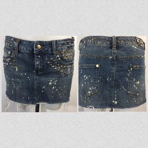 Forever 21 XXl distressed Jean skirt size L